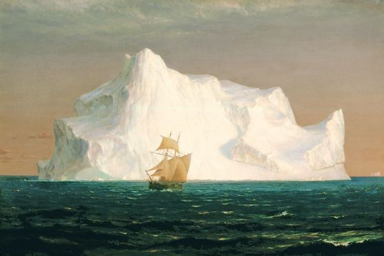 Church, Edwin Frederic: The Iceberg. Fine Art Print/Poster. Sizes: A4/A3/A2/A1 (001662)